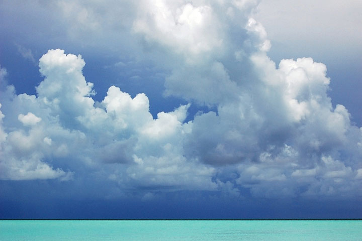 Caribbean Sea and cloud formation
